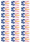 Newfoundland and Labrador Flag Stickers - 21 per sheet